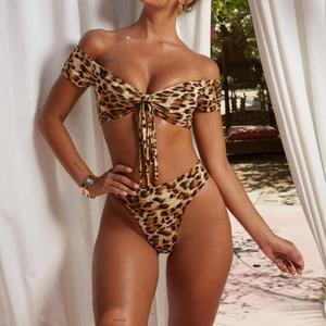 8f3456e5f9 2019 new sexy design for lady printed leopard Bikini deep V style in stock  231413