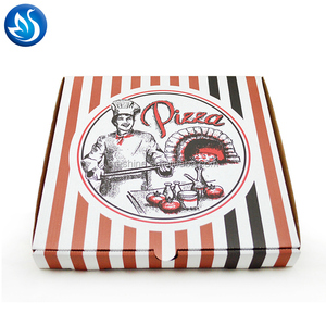 Custom logo printed brown cheap kraft pizza box