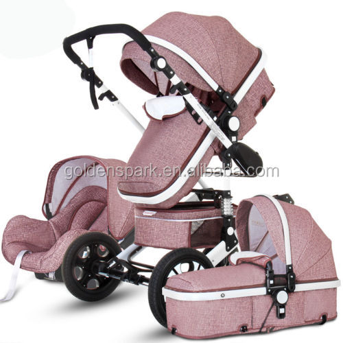 3 in 1 High Landscape High end Baby Trolley Stroller Foldable Baby Car Car Seat