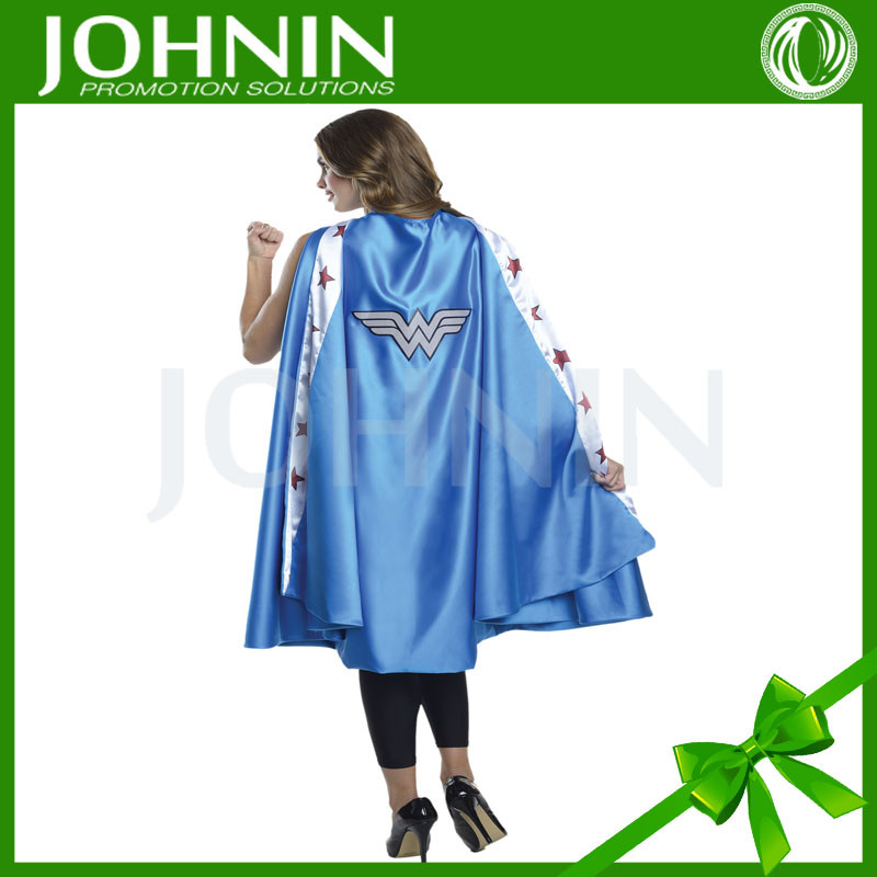 Wholesale New fashion design Halloween Party Cos Double Layer Super Hero adult deluxe wonder woman cape