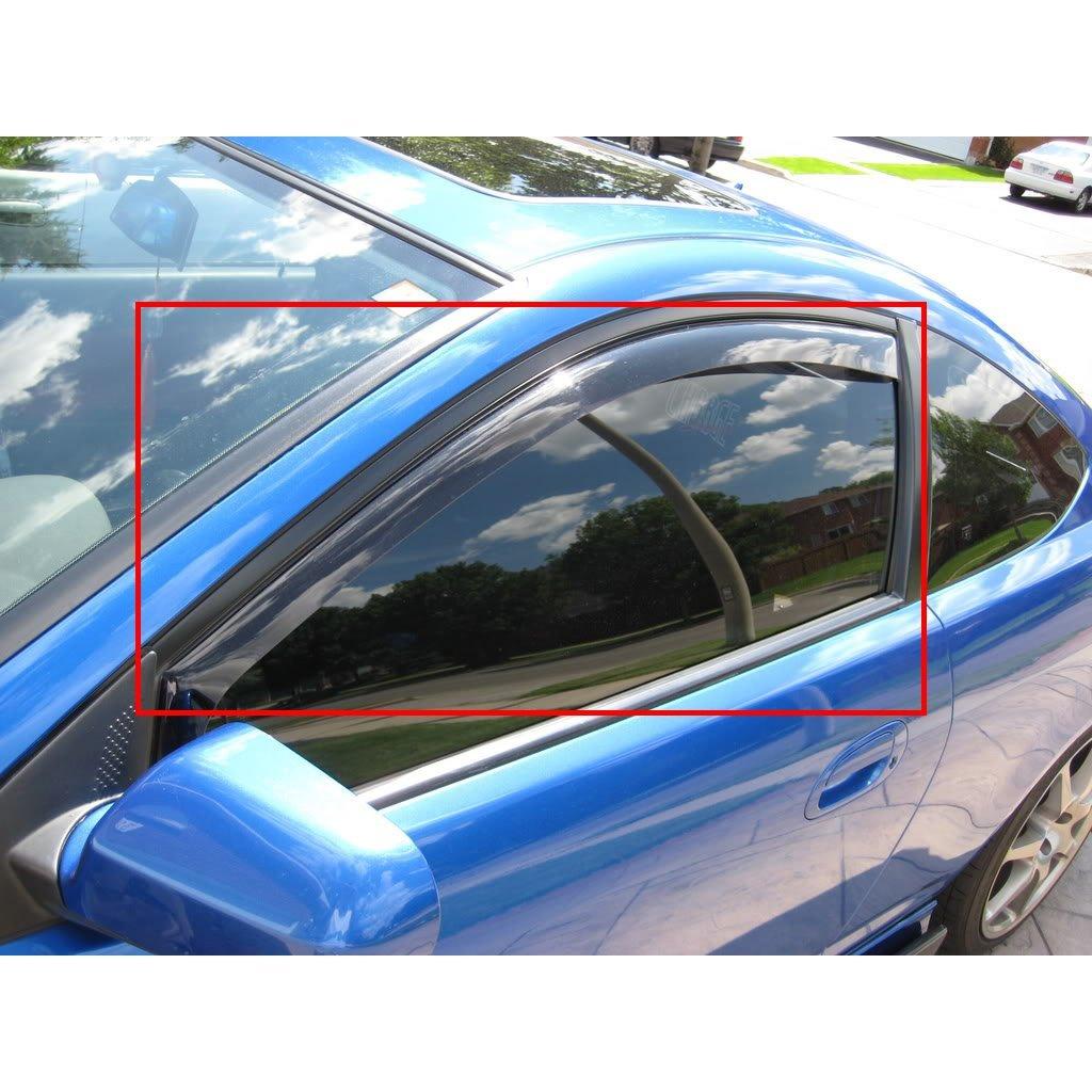 Get Quotations · DOBI 2pcs Front Smoke Sun Rain Guard Vent Shade Window  Visors Fit 06-11 6b62c93695e