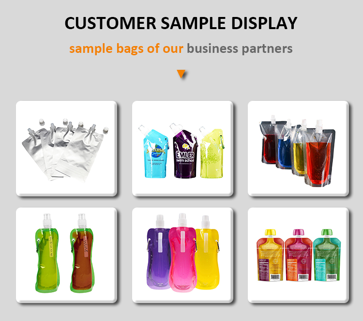Energy Drinking Soft Custom Stand Up Refillable Reusable Alcohol Disposable Plastic Biodegradable Drink Pouch
