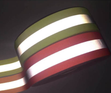 silver fluorescent color reflective tape fire flame retardant webbing for fireman uniform