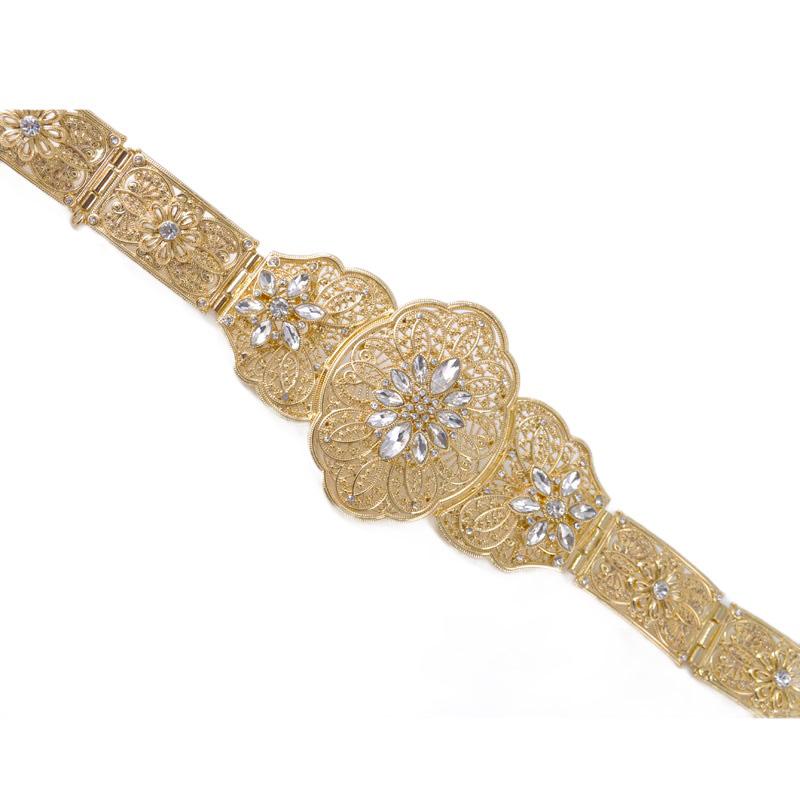 New arrival Fashion Women Caftan Belt Golden Adjustable Size Abaya Waist Chain Jewelry Kaftan Belt