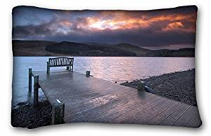 Generic Baby Boys' Landscapes sunset river bridge bench 20x30 inches