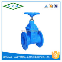 Cast Iron BS5163 Rubber Wedge Non-Rising Stem Gate Valve, PN10, Z45X-10