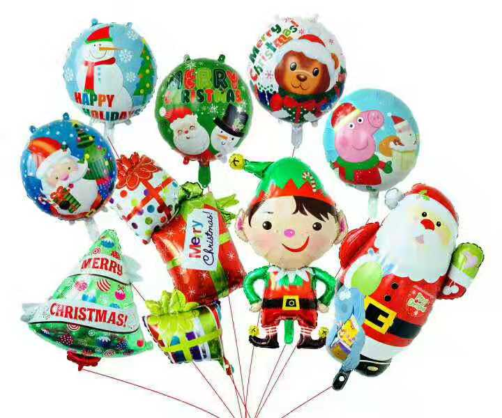 Amazon Hot Christmas Paper Party Decorations for Party Santa Claus Deer Balloons Aluminum Foil Balloon Set for Christmas