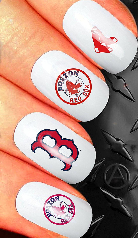 Nail Art Waterslide Decal Design Set American League Baseball Boston Red Sox N72