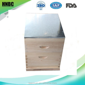 Honey Keeper Beehive 20 Frame Complete Box Kit with Metal Roof for Langstroth Beekeeping