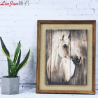 Plaque Art Wood Plaque Art Horse Hand Wood Plaque Art With Picture Frame