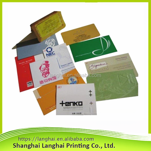 2017 New Design Recyclable Eco Custom Envelope Custom Logo CMYK Printing Fine Quality New Arrival a5 Envelope
