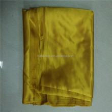 100% polyester rosette design silk-like satin fabric for tablecloth