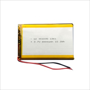 Polymer Lithium-ion Battery 3.7V 906090 6000mah Recharge Battery for Digital Products Power Bank Battery