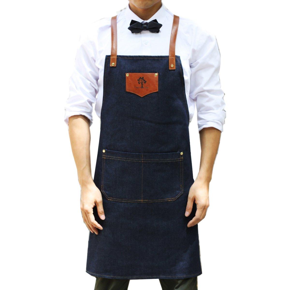 Denim Chef Shop Apron with Pockets VANORIG Durable & Comfortable