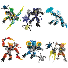 BIONICLE series XSZ 706 jungle Rock Water Earth Ice Fire protecto action figure Building Block Compatible