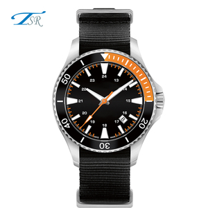 Steel case diver quality 10ATM new design watch 2018 Japan movt custom watches men