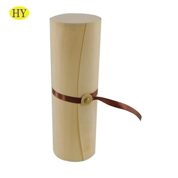 Wholesale Unfinished Birch Veneer Cylinder Gift  Box