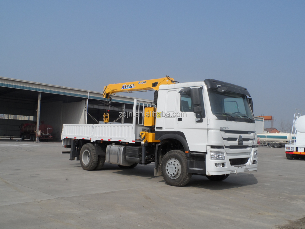 3 assen vrachtwagen met laadkraan autolaadkraan 8t 7 ton 5 for Vrachtwagen kipper met kraan