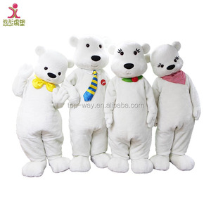 Realistic Inflatable Polar Mascot Adult Bear Costume