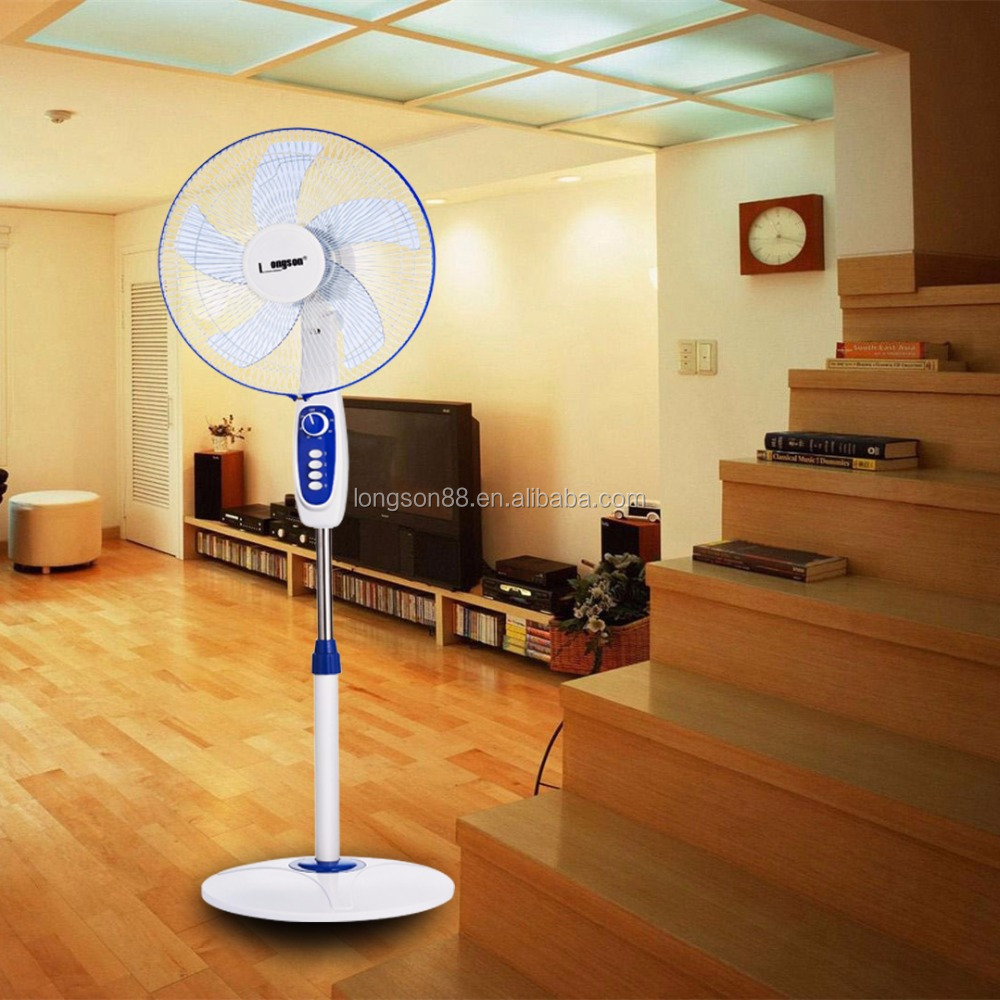 Home using 12V DC Solar Stand Fan 16 Inches Colors Optional OEM