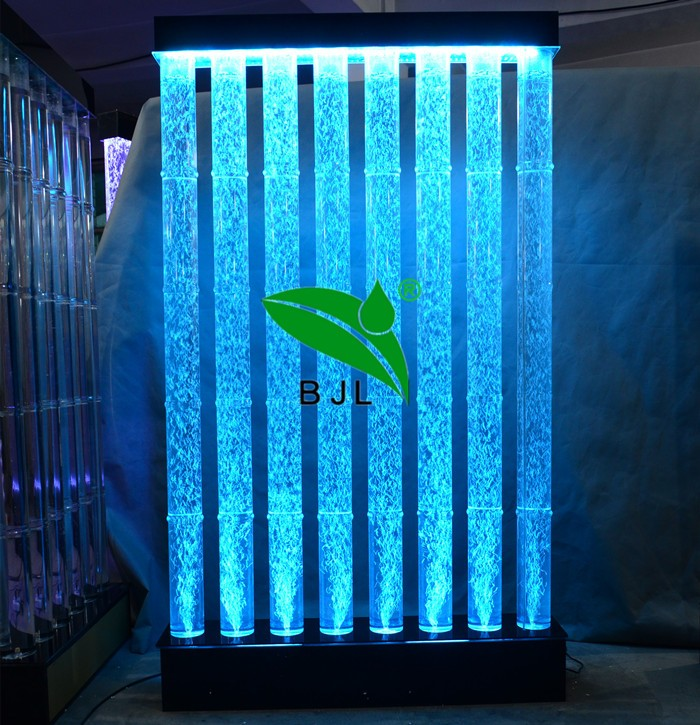 Led Bamboo Decorative Divider Acrylic Room Water Bubble
