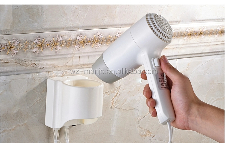 ABS Plastic Professional Long Life AC Motor Mini Hair Dryer Wall Holder