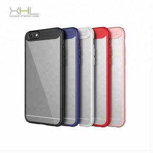 New transparent Silica gel TPU PC Phone Case For Iphone 6