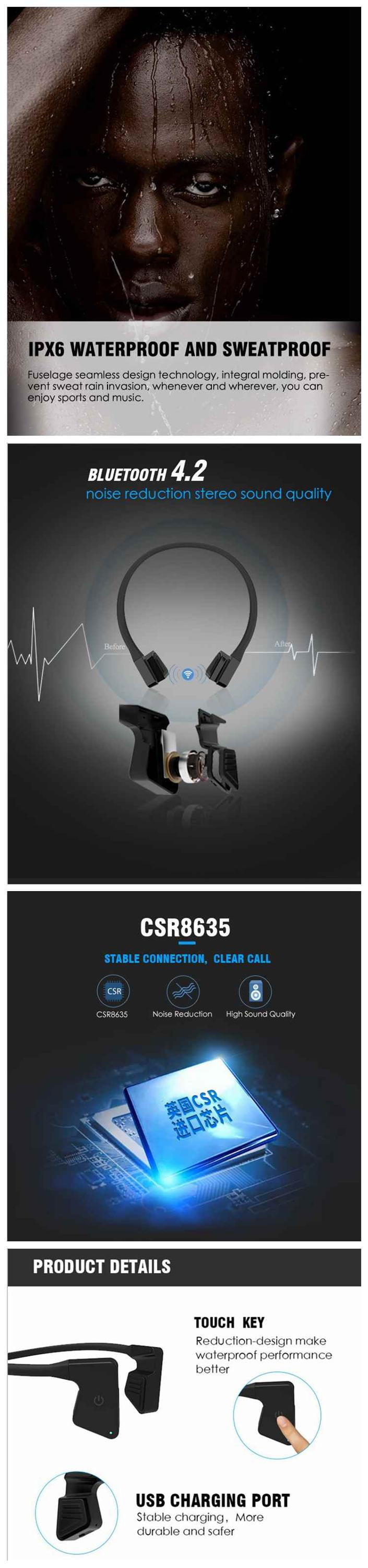headphones for bone conduction new2019 shenzhen amazon wireless headset lipo battery phone accessories rack