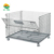 stackable lockable heavy duty collapsible industrial metal welded wire storage basket with wheels