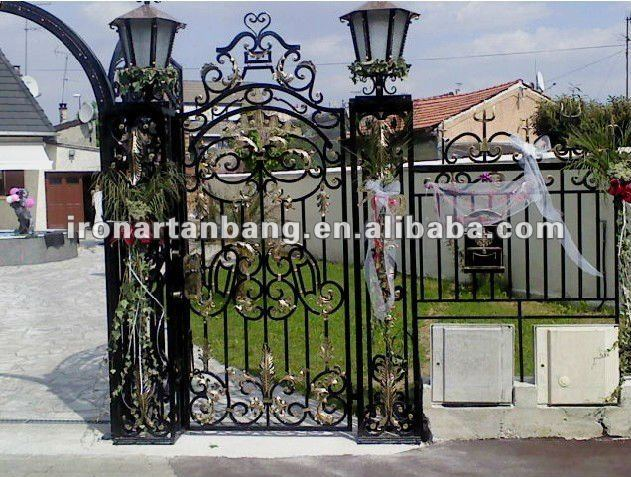 Wrought Iron Grill Gate Design