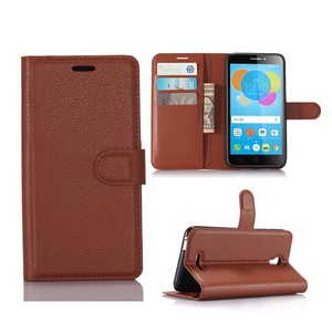 Folio Wallet Flip PU Leather Back Cover For Alcatel Pixi 4 5.5 5012 5012G 5012F Phone Case