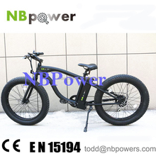500W Engine Powered Electric Beach Cruiser Bicycle for Sand Use