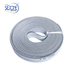 4.0mm grey leather flat drive endless belt
