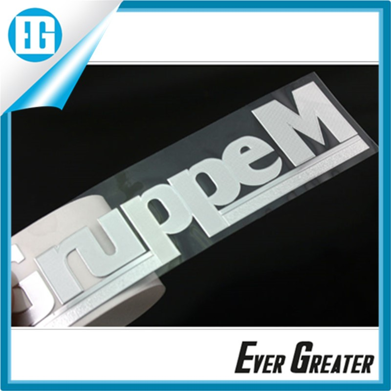 Wholesale metal stickers decals metal transfer stickers custom metal logo stickers