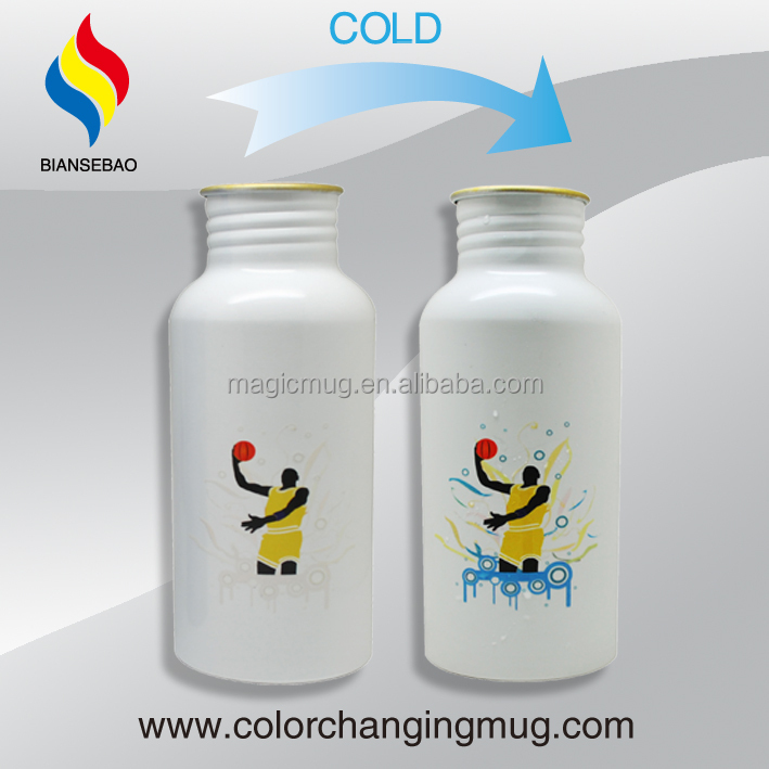 2015 Innovative Product The World Mug Magic Cold Color Changing Aluminum Cup