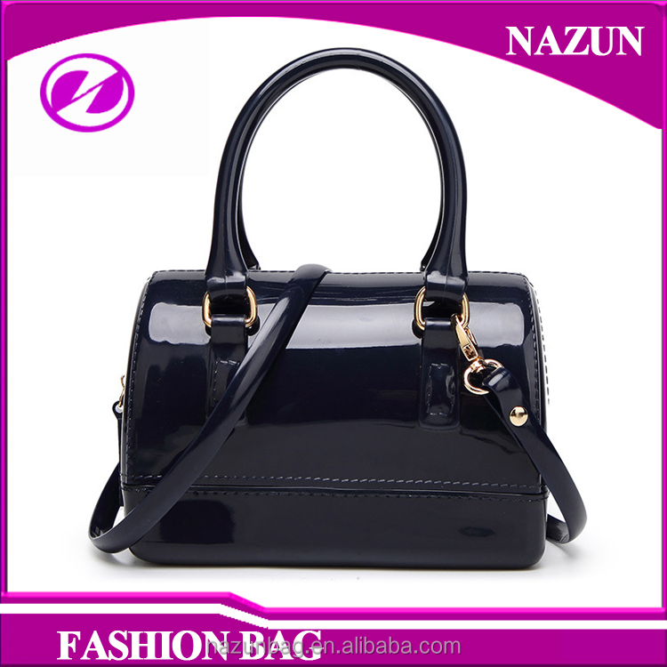 China custom design different colors jelly bag girls fashion silicon handbags