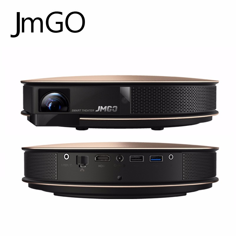 Salange New Smart Portable Theater <strong>Projector</strong> JmGO G3 Pro with 1200 ANSI Lumens 2G RAM 32G ROM Support 1080P 4K <strong>Projector</strong>