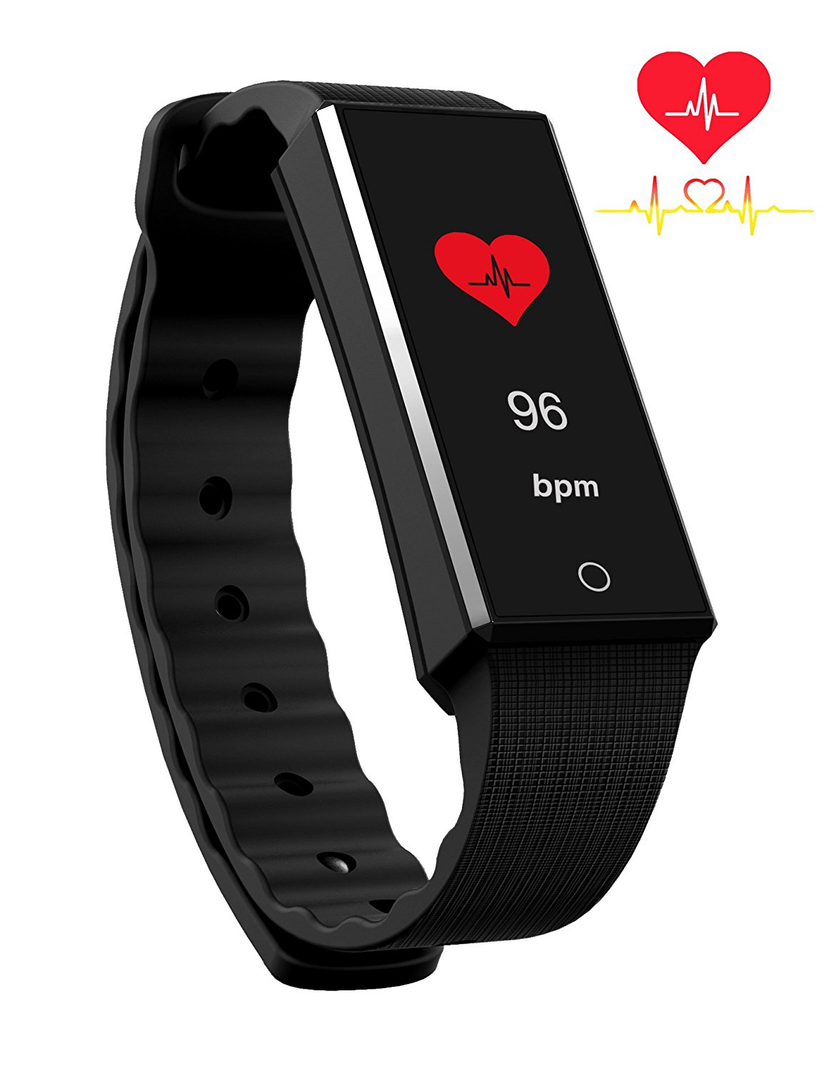 BitHealth Z4 Smart Bracelet With Heart Rate Monitor, Activity Tracker, Smart Wristband. Color Display. Activity/Workout/Heart Rate/Sleep Smartband. Continuous Heart Rate Monitor. Notification receive.