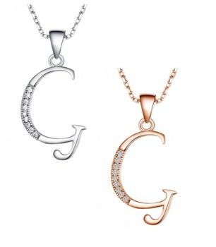 Silver Letter Pendant Alphabet G 2015 New Designs Diamond Pave ...