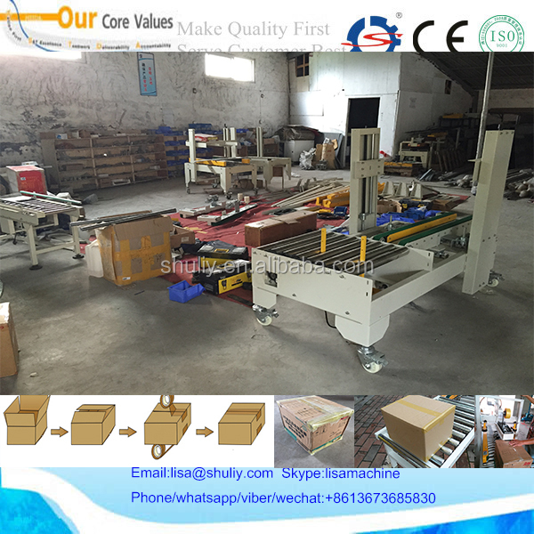 semi automatic adhesive tape carton box sealer and taping machine 008613673685830