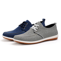 Men's high quality outdoor blank canvas shoe mens shoes loafer casual