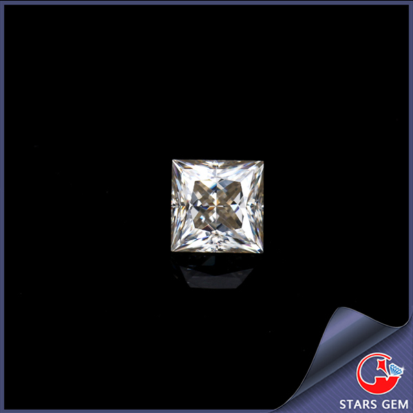 white synthetic diamond jewelry moissanite square cut for ring