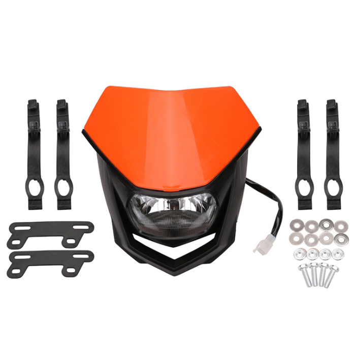 White Headlight Head Lamp Fairing Motorcycle Mx Dirt Bike Off Road Dual Sport