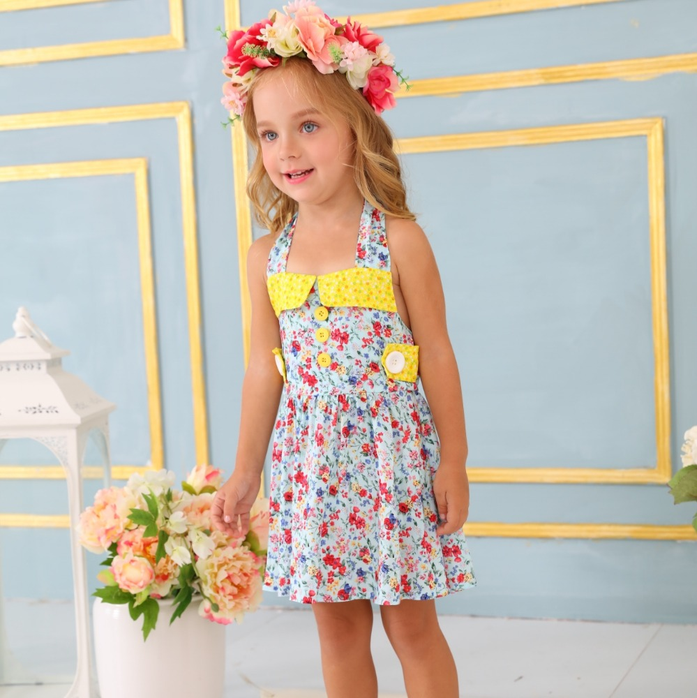 Wholesale Kids Party Wear Printing Clothes Little Girl Fashion ...