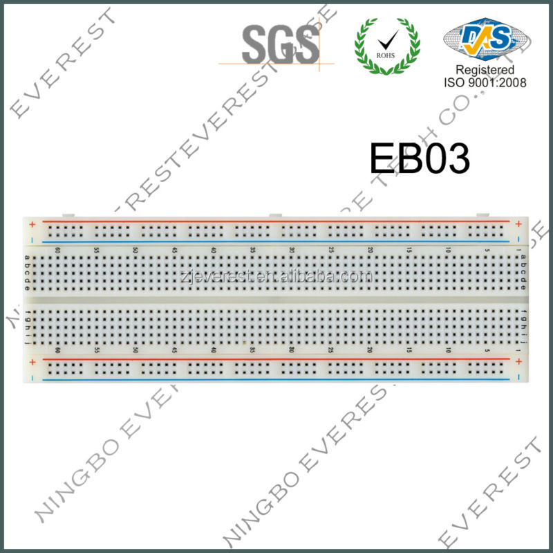 MB-102 Solderless Breadboard Protoboard PCB 830 Tie Points ABS Test Circuit