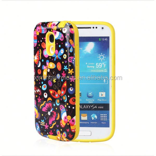China Global Supplier tpu pc case for samsung s4 mini tpu+pc cover case