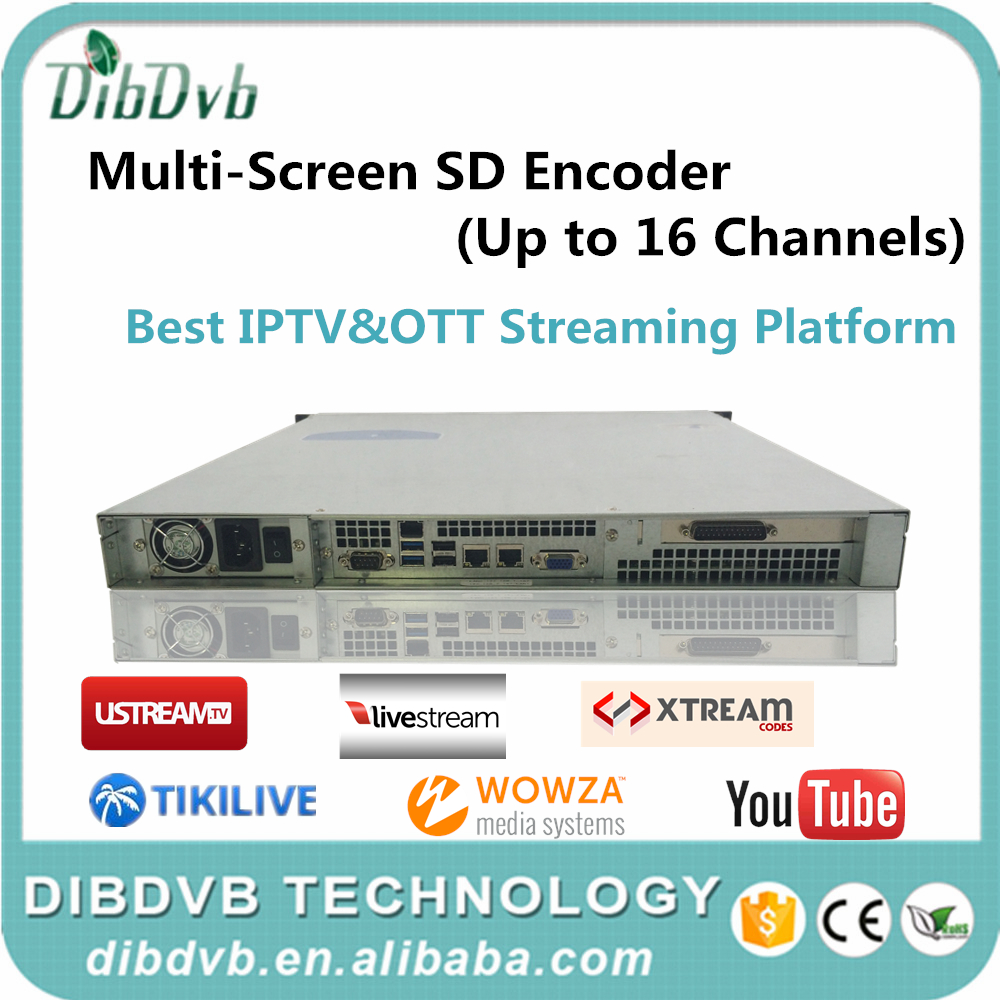 China top sale 16 channels IPTV Encoder Multiscreen rca/iptv encoder for TV/Web/Mobile/Pad applications