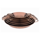 Rose Gold Barbecue Stainless Steel Paella Pan With Induction Bottom
