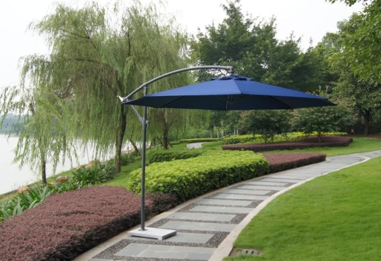 Laura New UV Resistant 2.7m Steel Alloy Side Pole Garden Parasol For hotel beach resort sun protection umbrella
