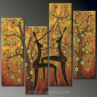 Guangzhou Manufacturer 3 panel abstract oil painting